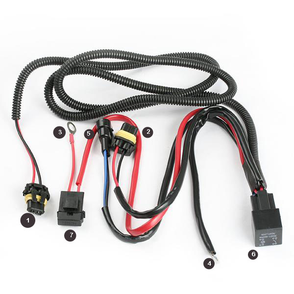HID Wiring harness how to hook up a relay harness to your hid lights 8th generation hid wiring harness install at aneh.co
