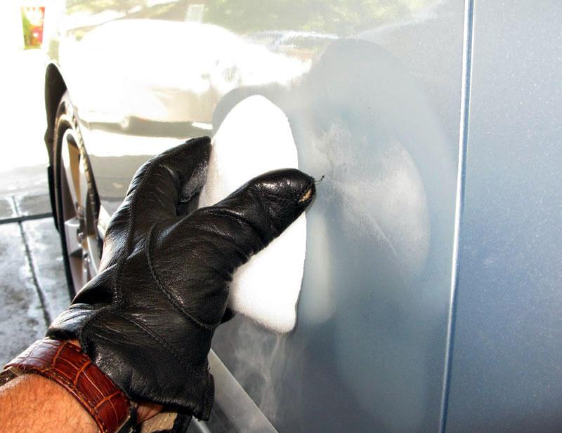 how to fix fender dent compressed by door